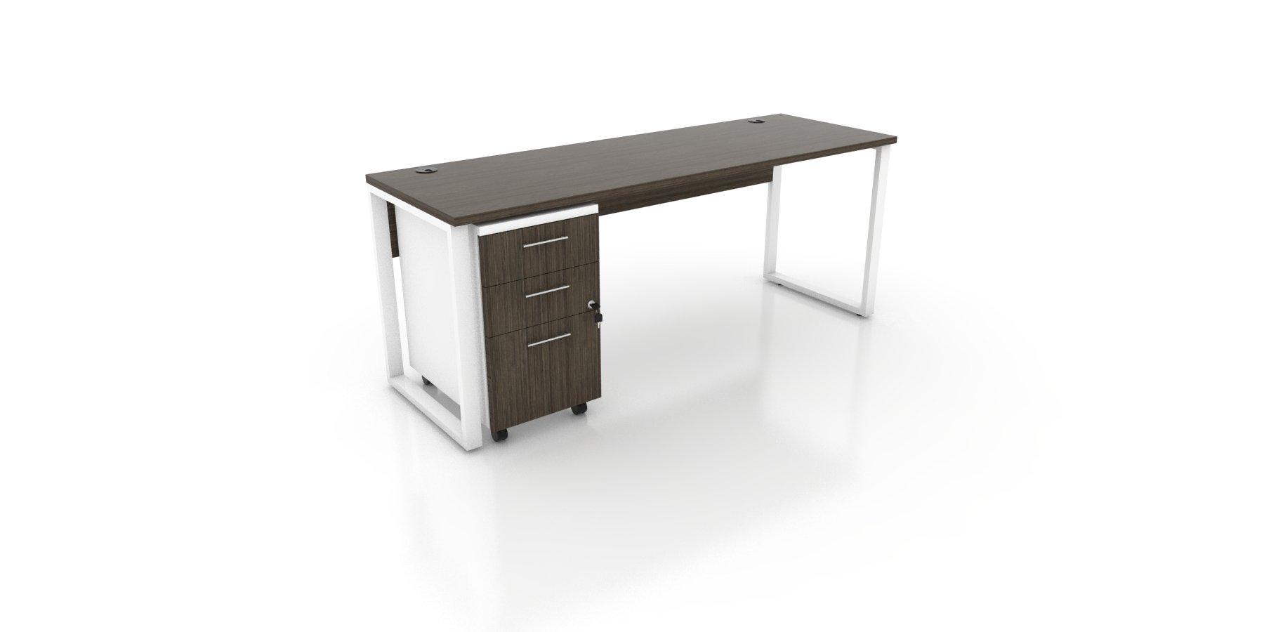 Modern Metal Base Desk Canadian Writing Desk