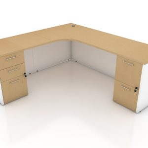 L-SHAPE LAMINATE DESK