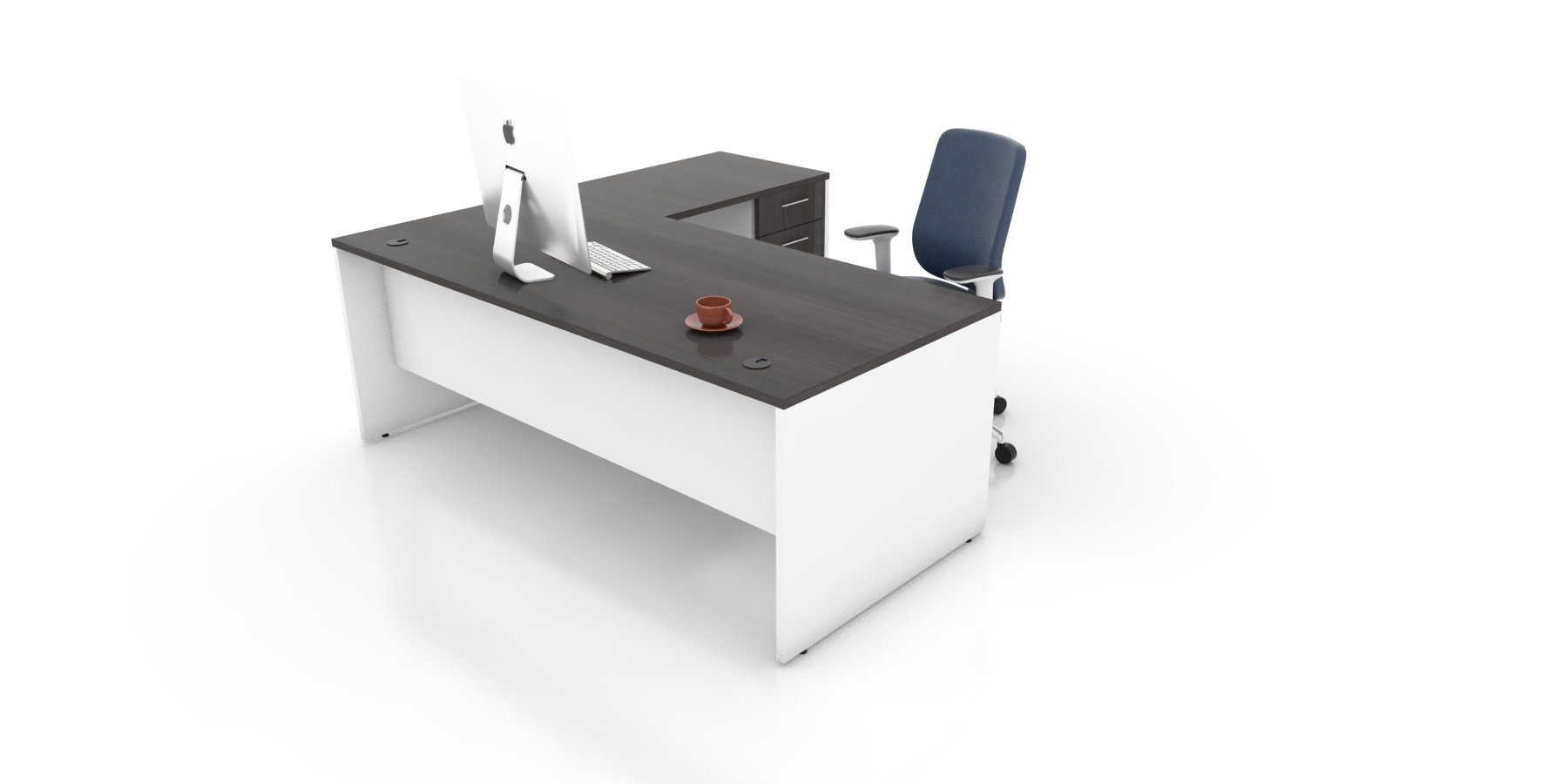 Classic L Shape Desk Rectangular L Shape Computer Desk