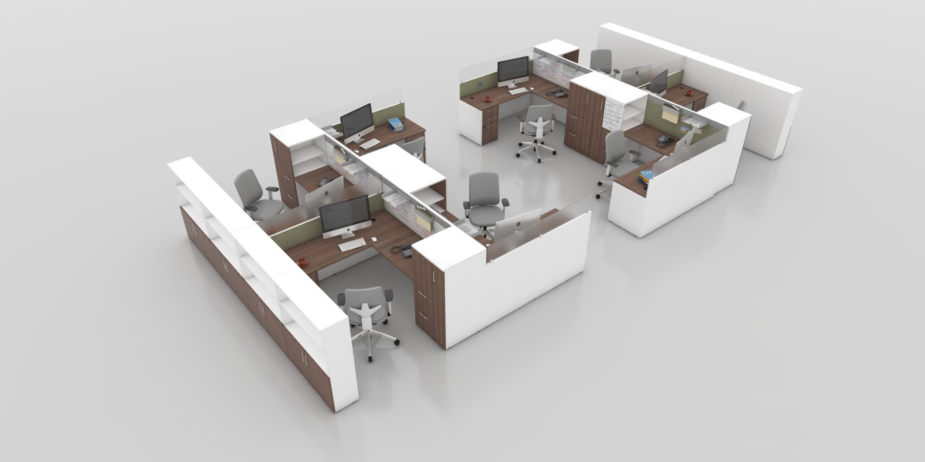 Office Furniture Design and Planning - Modern Cubicle Workstation Code Cube