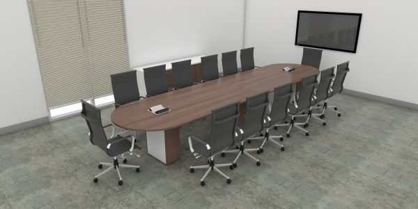 Office Furniture Toronto - Racetrack Boardroom Table - Caramel