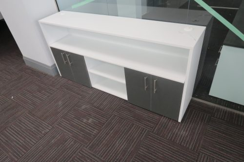 Custom Storage Credenza-Chocolate and White