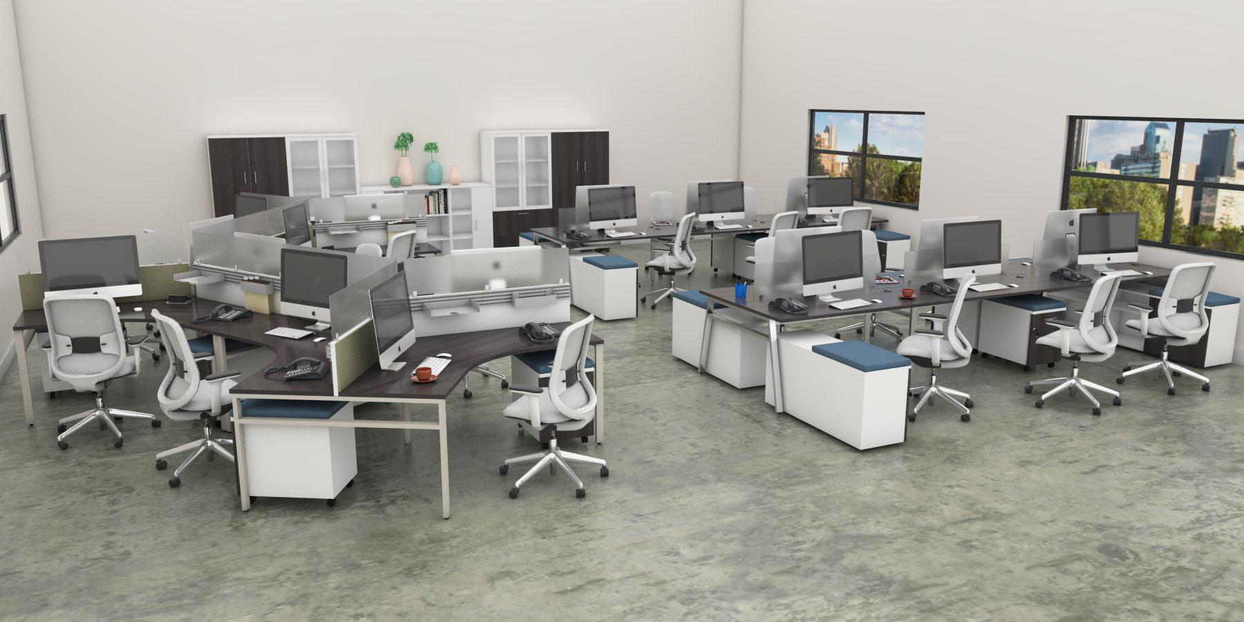 Office Furniture Toronto - Modern Bench Workstations and Filing Cabinets